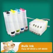 Bulk Ink para Impressora HP 8100 e HP 8600