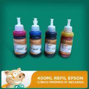 400ml Refil Epson C/bico Pr�prio P/ Recarga Alta Qualidade!