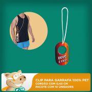 Clip para Garrafa 100% PET - Cord�o 0,40cm - Pacote com 10 unidades