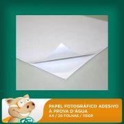 Papel Fotogr�fico Adesivo � Prova D'�gua A4 20 Folhas 115gr