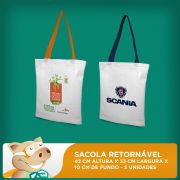 Sacola Retorn�vel 42x33x10 - Pacote com 5 unidades