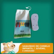 Saquinho de Chinelo Infantil / Juvenil - Pacote com 5 Unidades