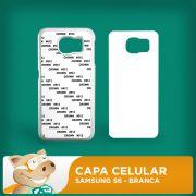 Capa Pl�stica 2D para Sublima��o - Branca -Samsung S6