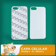 Capa Pl�stica 2D para Sublima��o - Branca - Iphone 5 - 5S