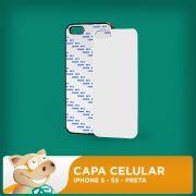 Capa Pl�stica 2D para Sublima��o - Preta - Iphone 5 - 5S