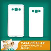 Capa Pl�stica 2D para Sublima��o - Branca - Samsung Galaxy J7