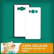 C�PIA - Capa Pl�stica 2D para Sublima��o - Preta - Galaxy A5