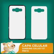 Capa Pl�stica 2D para Sublima��o - Preta - Galaxy E7