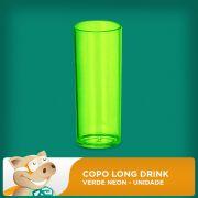 Copo Long Drink Verde Neon  Unidade