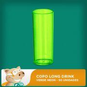 Copo Long Drink Verde Neon 50 Unidades