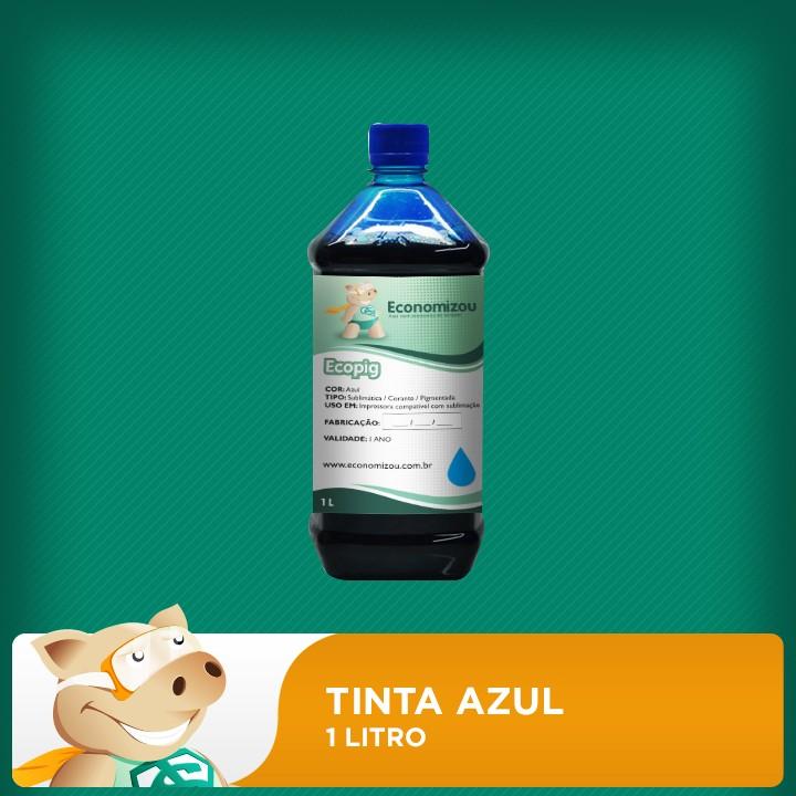 1 Litro Tinta Azul para Epson Pigmentada  - ECONOMIZOU