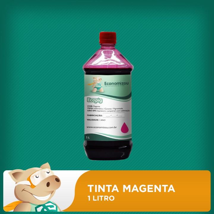1 Litro Tinta Magenta para Epson Pigmentada  - ECONOMIZOU