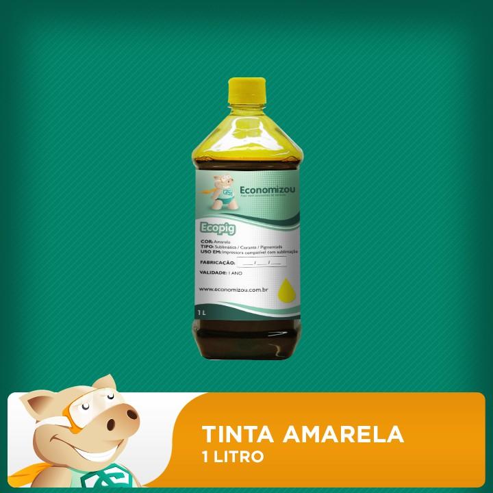1 Litro Tinta Amarela para Epson Pigmentada  - ECONOMIZOU
