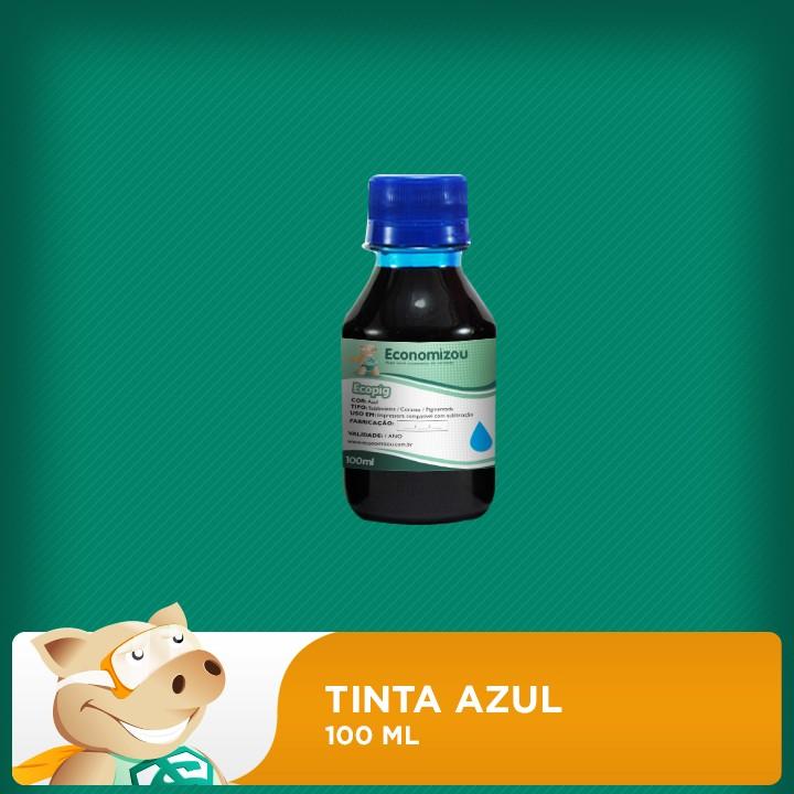 100ml Tinta Azul para Epson Pigmentada  - ECONOMIZOU