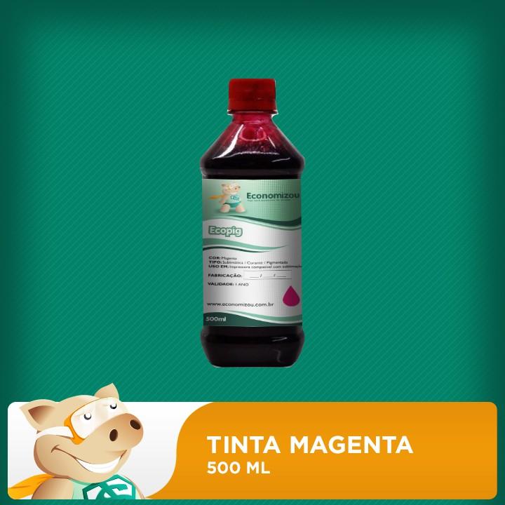 500ml Tinta Pigmentada Epson Vermelha (Magenta)  - ECONOMIZOU
