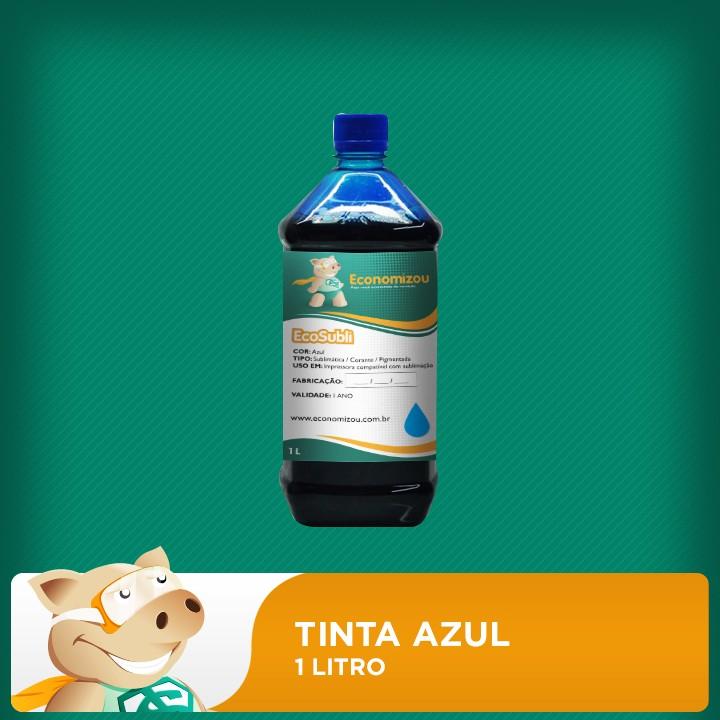 1 Litro Tinta  Sublimática Epson Azul (Cyan)  - ECONOMIZOU