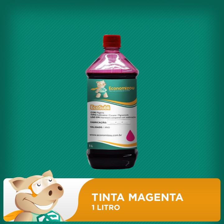 1 Litro Tinta Sublimática Epson Vermelha (Magenta)  - ECONOMIZOU