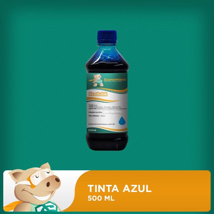 500ml Tinta Azul para Epson Sublimática  - ECONOMIZOU