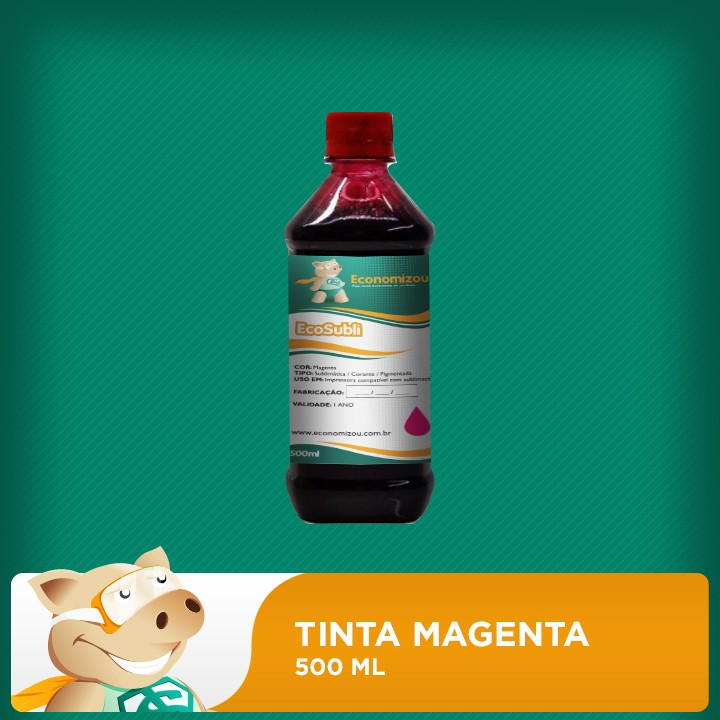 500ml Tinta Sublimática Epson Vermelha (Magenta)  - ECONOMIZOU