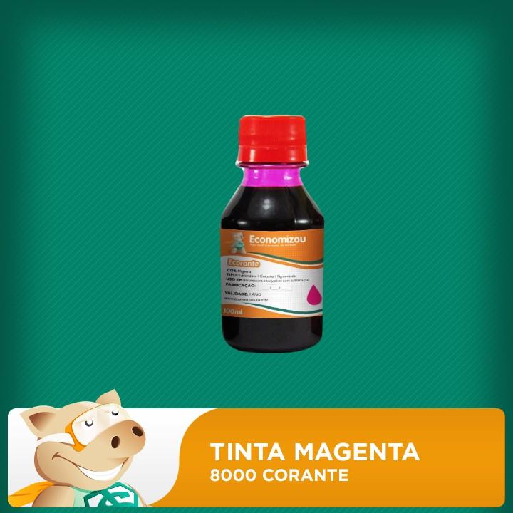 100ml Tinta Corante Magenta HP 8000  - ECONOMIZOU