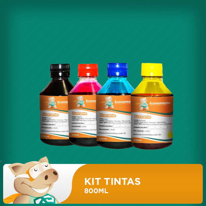 Kit de Tintas 800ml