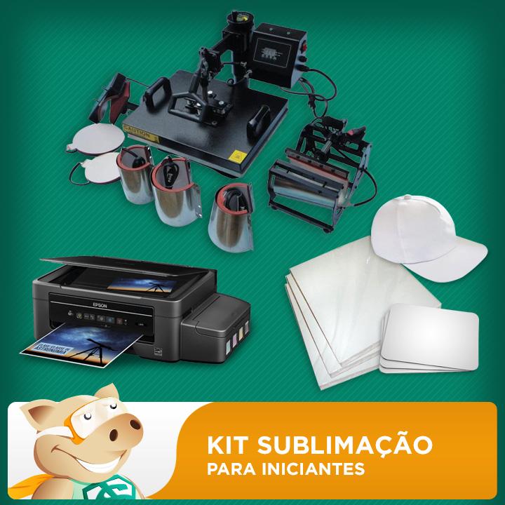 Kit Sublimação A4 para Iniciantes  - ECONOMIZOU