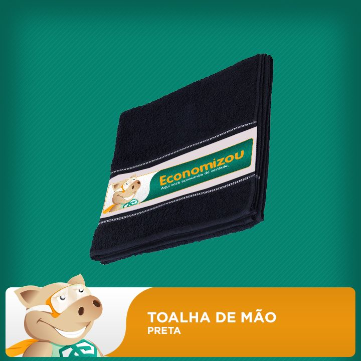 Toalha de M�o Preta