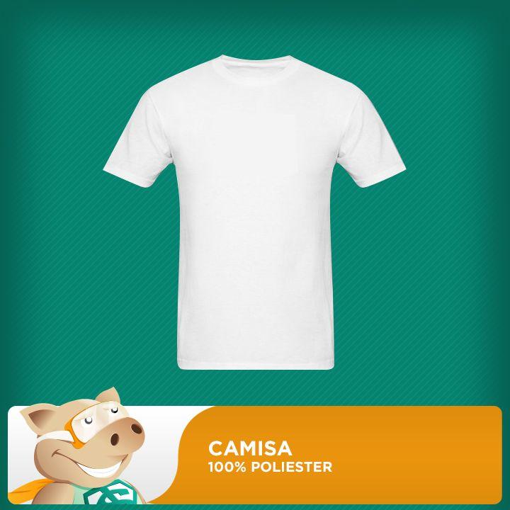 Camisa Branca 100% Poliester 30.1 – Tamanho P (Unidade)  - ECONOMIZOU