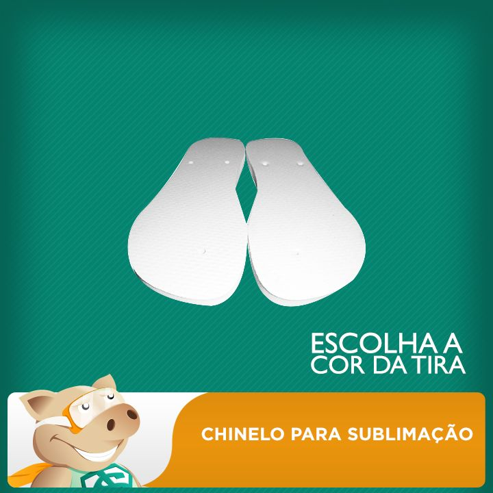 Chinelo para sublimação 29 / 30 (o Par)  - ECONOMIZOU