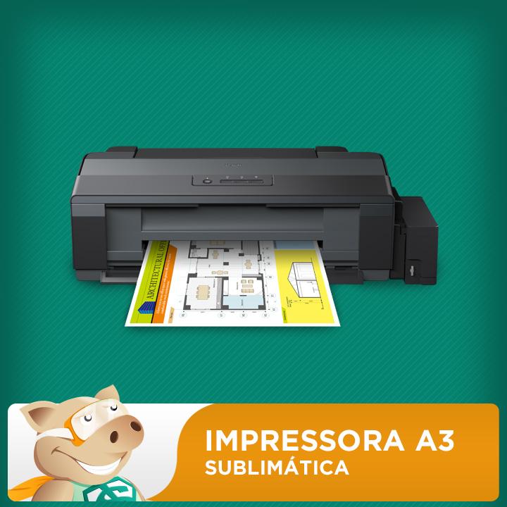 Impressora Epson L1300 com 500ml Tinta Sublimática  - ECONOMIZOU