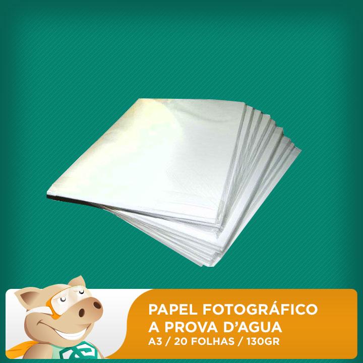 Papel Fotogr�fico 130gr A3 Prova D'�gua 20 Folhas