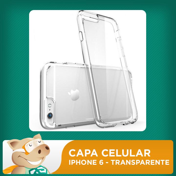 Capa Celular 2D para Sublimação - Transparente - Iphone6  - ECONOMIZOU