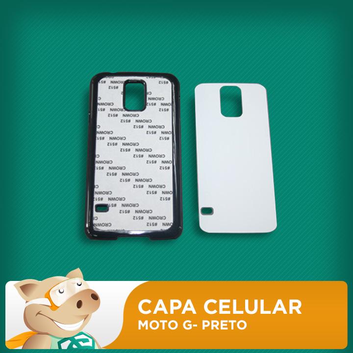 Capa Plástica 2D para Sublimação - Preta - Moto G  - ECONOMIZOU