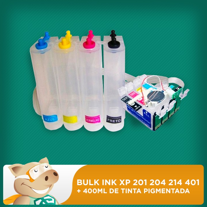 Bulk Ink Xp 201 204 214 401 c/ Tinta Pigmentada  - ECONOMIZOU