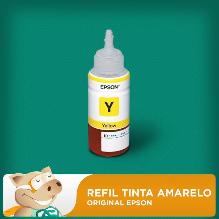 Refil Tinta Amarelo Original L200 L210 L220 L355 L365 L555 L1300/ Outros  - ECONOMIZOU