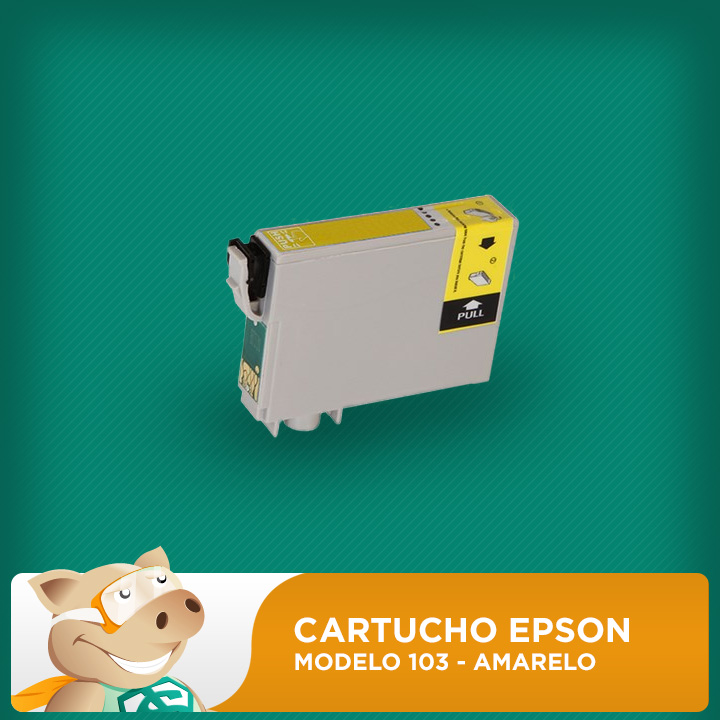 Cartucho Original Epson Modelo 103 Amarelo  - ECONOMIZOU