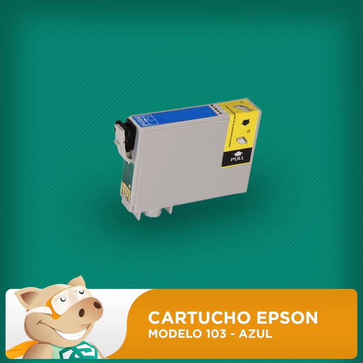 Cartucho Original Epson Modelo 103 Azul  - ECONOMIZOU
