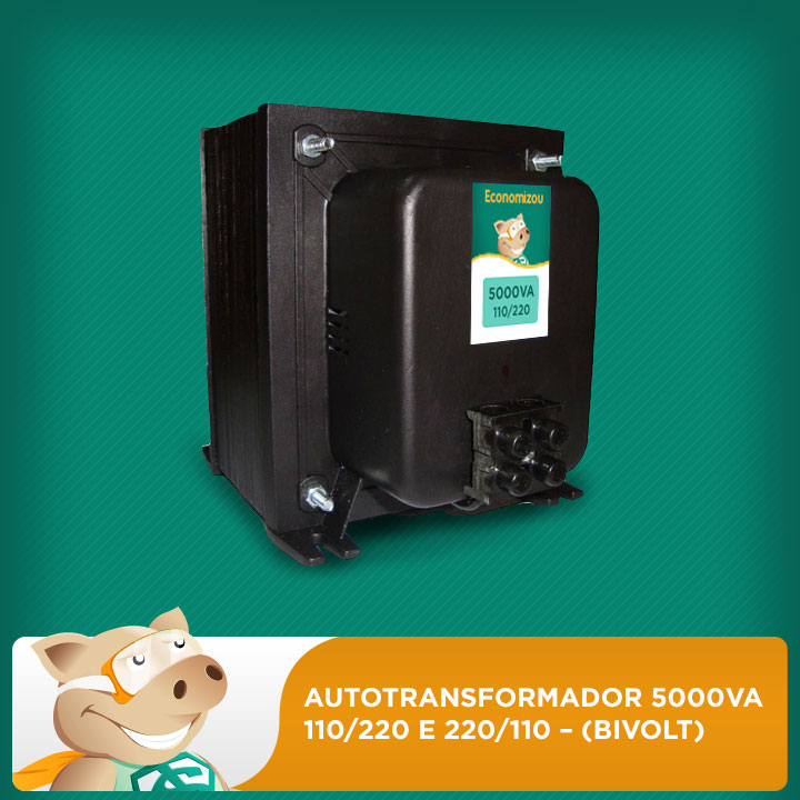 Autotransformador 5000va 110/220 e 220/110 – (bivolt)  - ECONOMIZOU