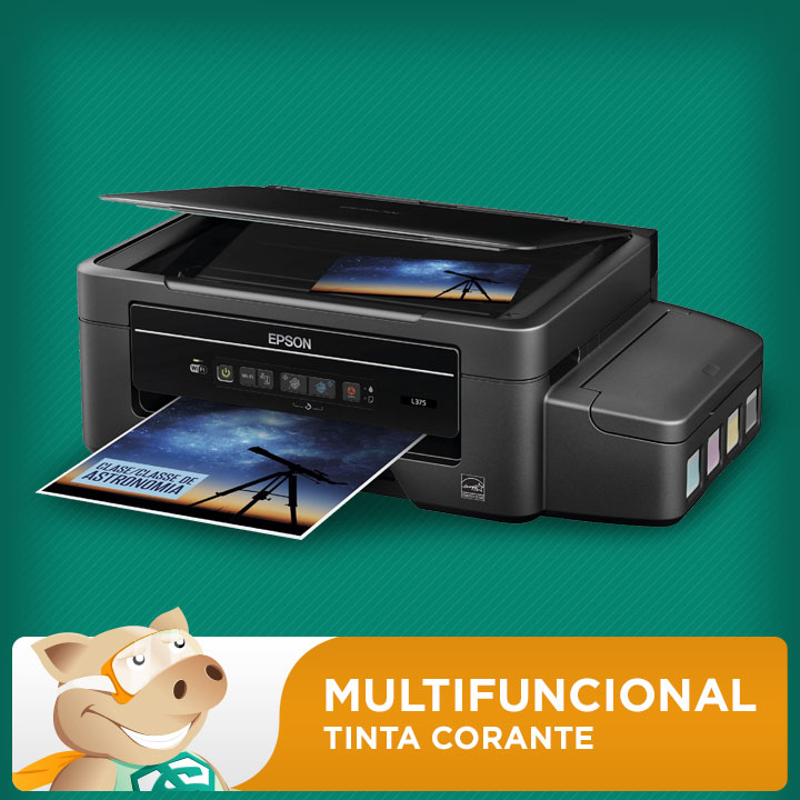 Epson Multifuncional L375 com Bulk + 400ML Tinta Corante  - ECONOMIZOU
