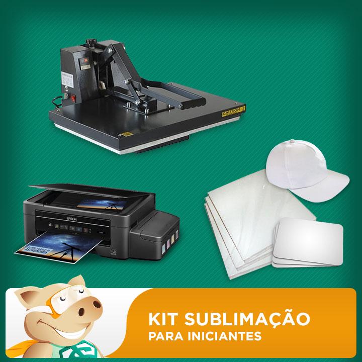 Kit Prensa A3 + Impressora A4 + Bonés + Folhas + Mouse Pad  - ECONOMIZOU