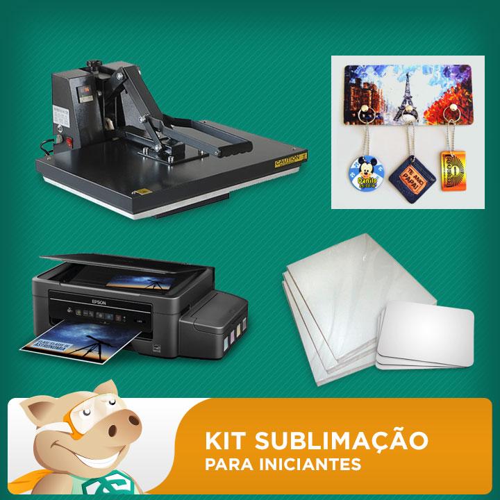 Kit Prensa A3 + Impressora A4 + Porta-chaves + Folhas + Mouse Pad  - ECONOMIZOU