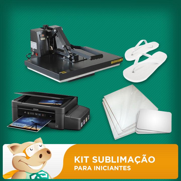 Kit Prensa A3 + Impressora A4 + Chinelos + Folhas + Mouse Pad  - ECONOMIZOU