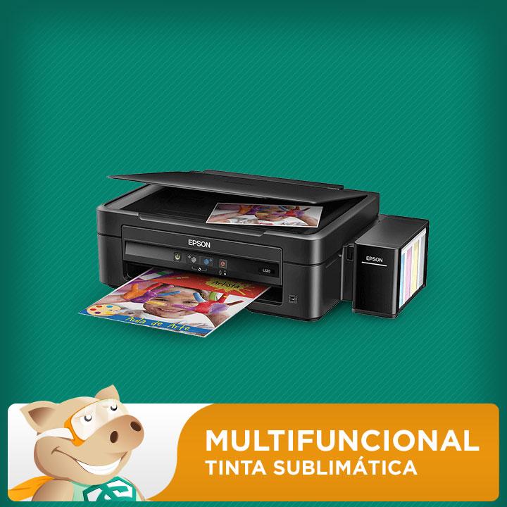 Multifuncional Epson L220 c/ Bulk + 400ml Tinta Sublimática  - ECONOMIZOU