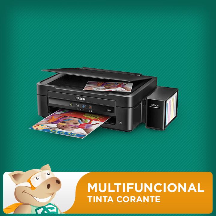 Multifuncional Epson L220 c/ Bulk + 400ml Tinta Corante  - ECONOMIZOU