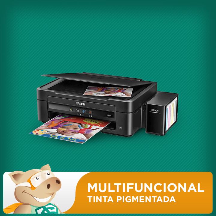 Multifuncional Epson L220 c/ Bulk + 400ml Tinta Pigmentada  - ECONOMIZOU
