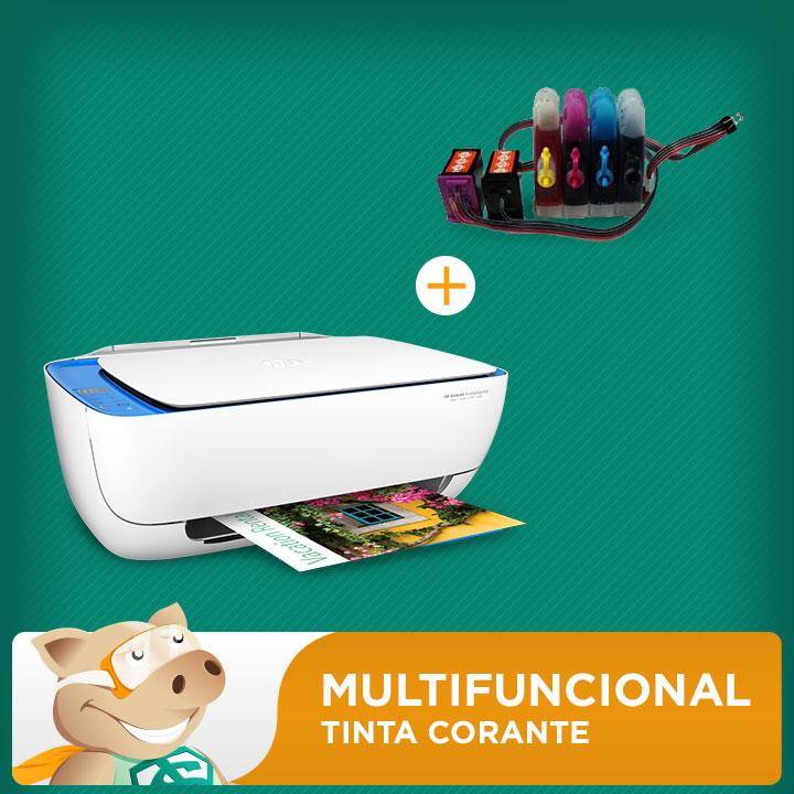 Multifuncional Hp 3636 C/ Bulk Ink+ 240ml Tintas  - ECONOMIZOU