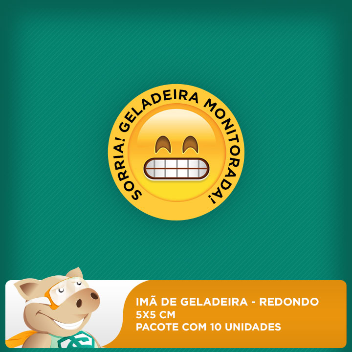 Imã de Geladeira - Redondo - 5x5cm - Pacote com 10 unidades  - ECONOMIZOU