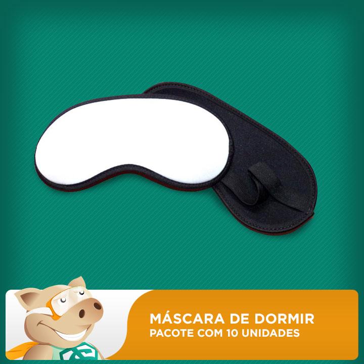 Máscara de Dormir para Sublimação - 10 unidades  - ECONOMIZOU