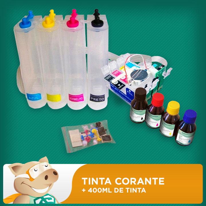 Bulk Ink Epson T25 - TX123 - TX125 - TX133 - TX135 Tinta Corante  - ECONOMIZOU