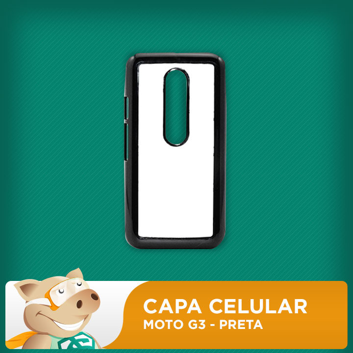 Capa Plástica 2D para Sublimação - Preta Moto G3 - Modelo LP-MG3-P  - ECONOMIZOU